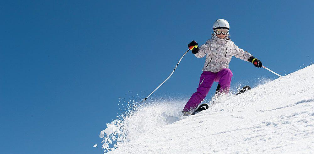 Обучение на лыжах в школе «Каштан». Киев, Протасов Яр.